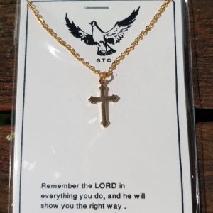 Gold Necklace w/ small cross